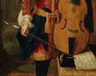 Portrait of Johann Schenk (detail), ca. 1700. Attributed to Peter Schenk (1645-1715), Château de Blois, France.